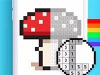 онлайн игра раскраска по номерам играть в пиксельную разукрашку