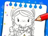 Игра Раскрась девочку